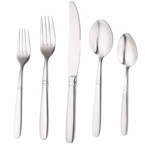 Bruntmor, CRUX Silverware Royal 45 Piece Flatware Cutlery Set
