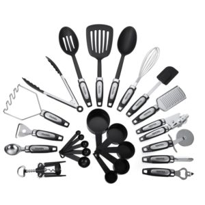 Piece Kitchen Tool & Utensil Set, Cooking Gadgets, Stainless Steel & Nylon