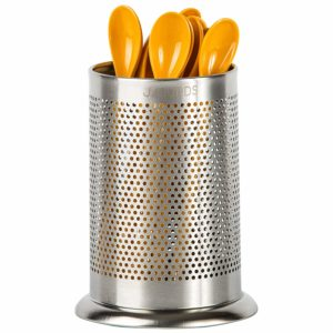 jagurds Stainless Steel Utensil Holder - Rust-Proof Kitchen Tool Organizer, Perfect Diameter and Height Cutlery Caddy