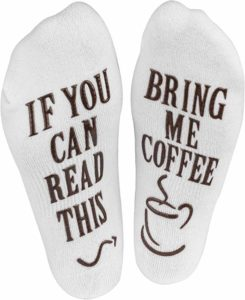 "CHRISTMAS , HOLIDAY, BIRTHDAY GIFT FOR MEN,Women's Novelty Socks - ""If You Can Read This, Bring Me Some"" (Wine, Chocolate, Coffee) Novelty Socks"