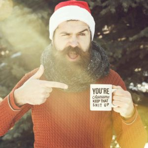 Large Funny Coffee Mug You Are Awesome Unique Ceramic Novelty Holiday Christmas BIRTHDAY Hanukkah Gift for Men ,Women Who Love Tea Mugs,Coffee Cups