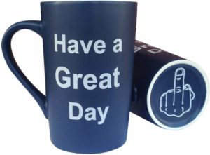 MAUAG Christmas, BIRTHDAY HOLIDAY Gifts Funny Coffee Mug Have a Great Day Cup Blue, Gag Gifts