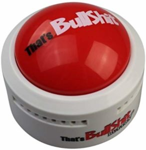 That's Bullshit Button - Talking Button Features Hilarious BS Sayings - Talking Novelty Gift with Funny Sound Clips