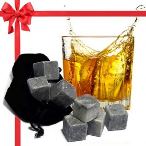 Best Whiskey Stones Gift Set with Magnetic Closure - Unique Present Box - Soapstone Chilling Rocks and Velvet Bag to Cool Bourbon with No Ice - 9 Reusable Cubes - Are Your Dad, Husband, friend, Scotch Lovers? Christmas , holiday, birthday,anniversary gift