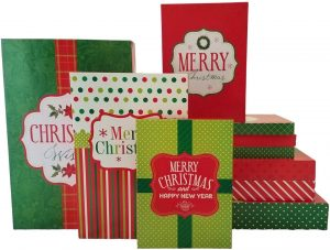 10 Christmas Holiday Gift Boxes (Christmas Assorted)