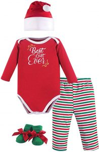 Hudson Baby Baby Holiday christmas Clothing Gift Set, 4 Piece