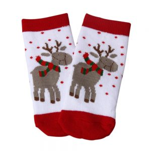 Infant Socks Boys,Christmas Gift 2019 Warm Winter Moose Elk Deer Soft Fit Lovely Cute Thick Family Party Photography-Red