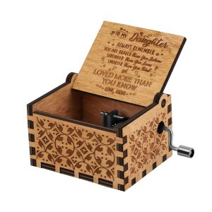 You are My Sunshine Wood Music Boxes,Laser Engraved Vintage Wooden Sunshine Musical Box Gifts for Birthday,Christmas,Valentines Day anniversary, holiday gift for friends, dad, boyfriend